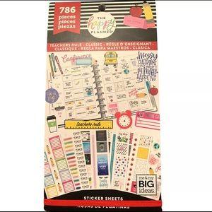 NWT Happy Planner Teachers Rule Sticker Pack
